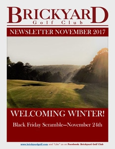 Brickyard November Newsletter