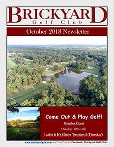 Brickyard Newsletter October 2018