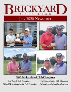 Brickyard Newsletter July 2020