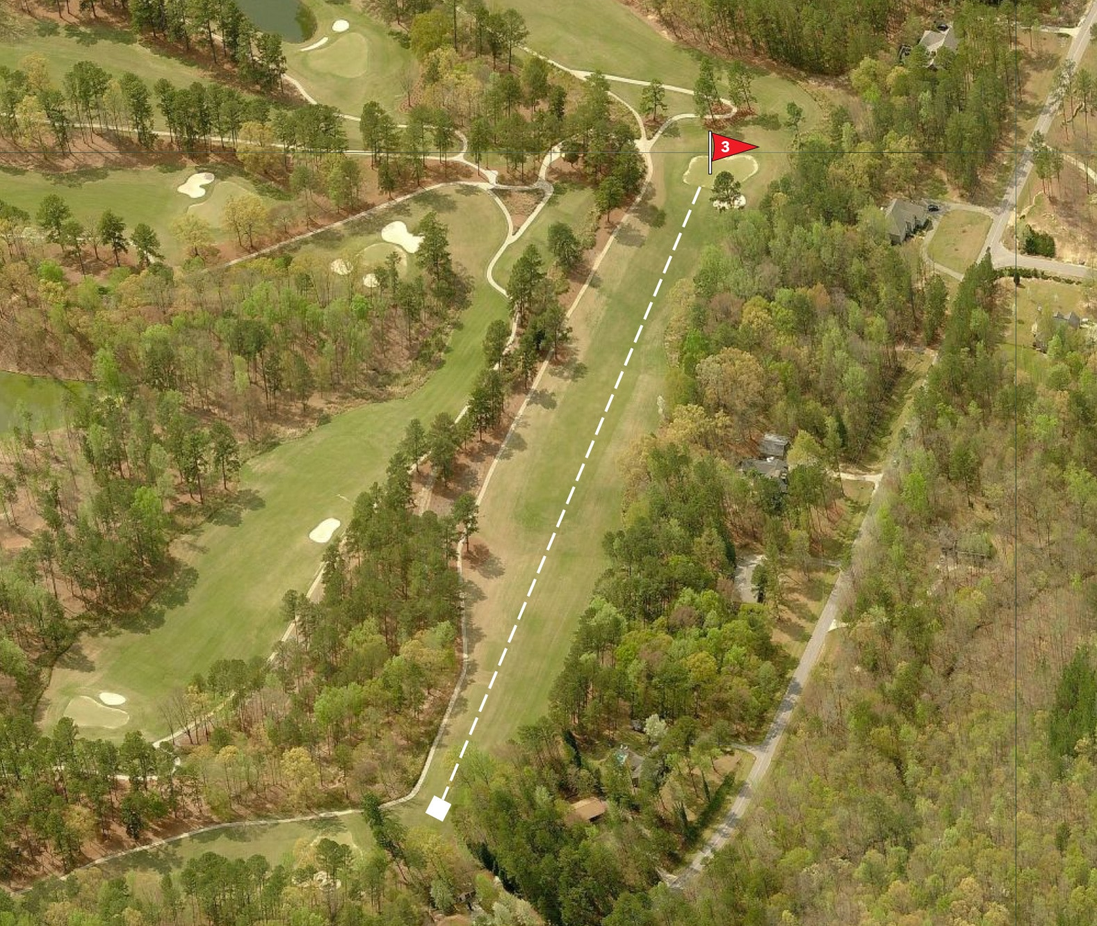 Bird's eye view of Hole No. 3