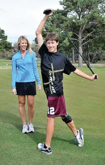 golf-stretching